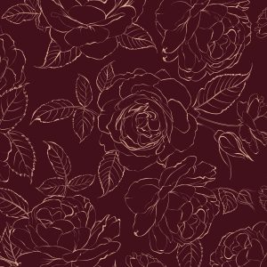 red rose sketch wallpaper in peel and stick by The Wallberry