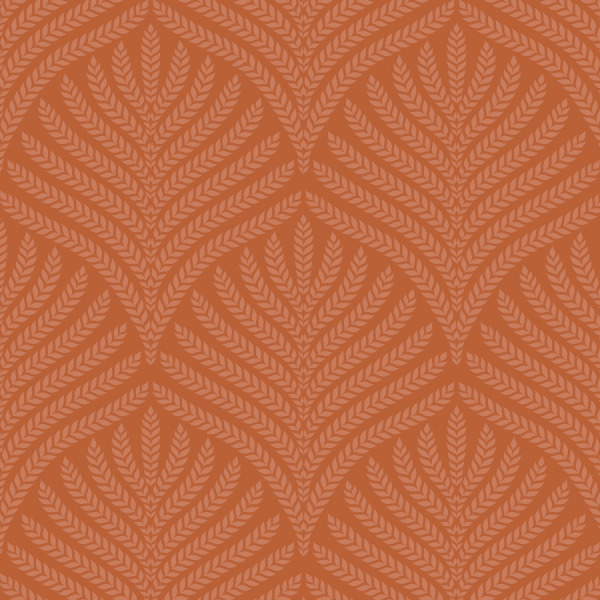 burnt orange wallpaper, terracotta peel and stick by The Wallberry