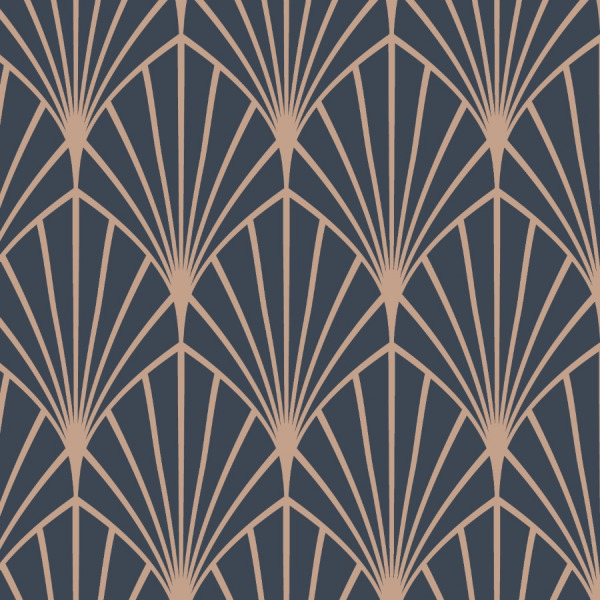 dark art deco wallpaper in peel and stick by The Wallberry