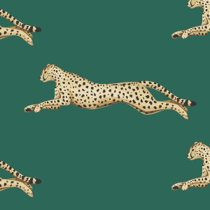 Green cheetah wallpaper - peel and stick wallpaper by The Wallberry