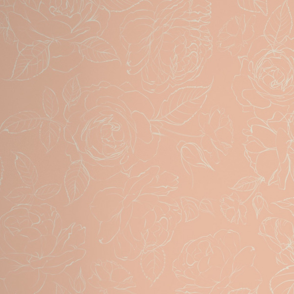 nude peony wallpaper in peel and stick by The Wallberry