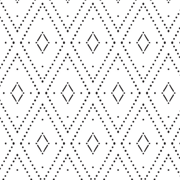 Monochrome Rhombus Wallpaper - Black and White peel and stick by The Wallberry