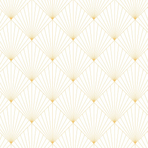 white art deco wallpaper with yellow lines in peel and stick