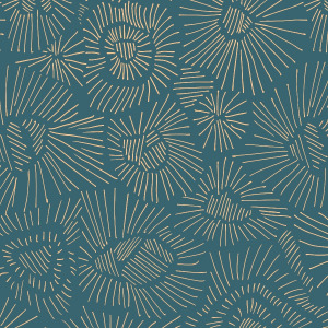 abstract teal wallpaper in peel and stick by The Wallberry