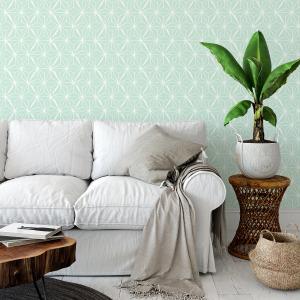 mint geometric wallpaper peel and stick
