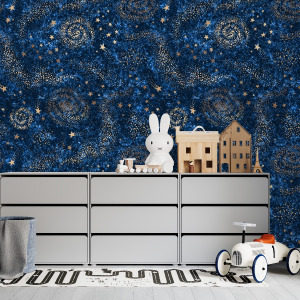 night sky wallpaper with space pattern in peel and stick by The Wallberry