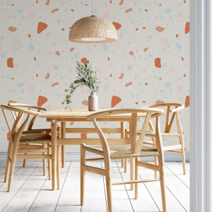 beige terrazzo wallpaper peel and stick