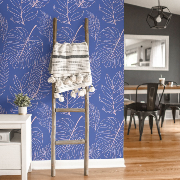 funky palms wallpaper in peel and stick