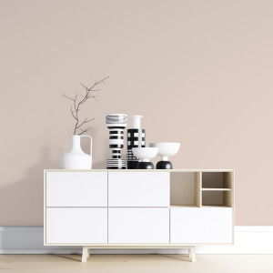 beige solid color wallpaper in peel and stick
