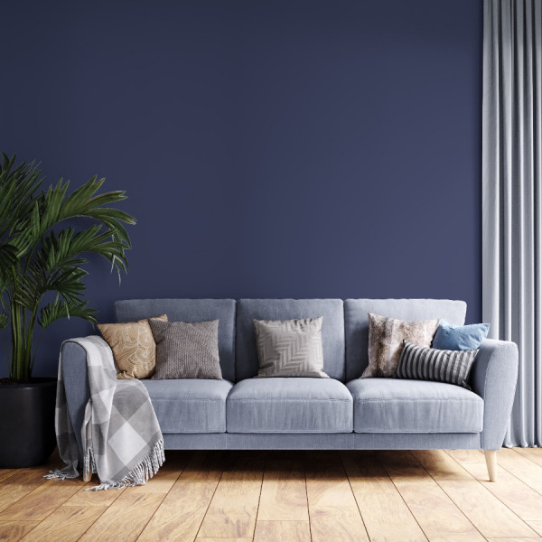 Blue Solid Color Wallpaper in peel and stick