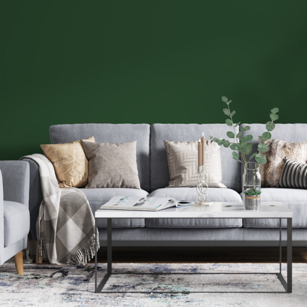 Green Solid Color Wallpaper in peel and stick
