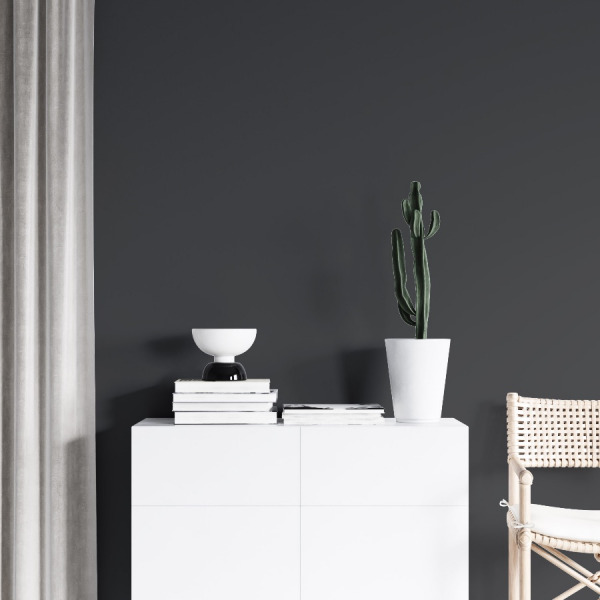 grey solid color wallpaper in peel and stick