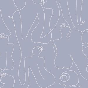 Woman Body Wallpaper in lavender