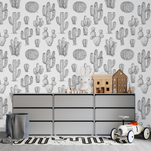cactus wallpaper peel and stick
