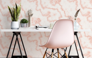 home office wallpaper - peel and stick