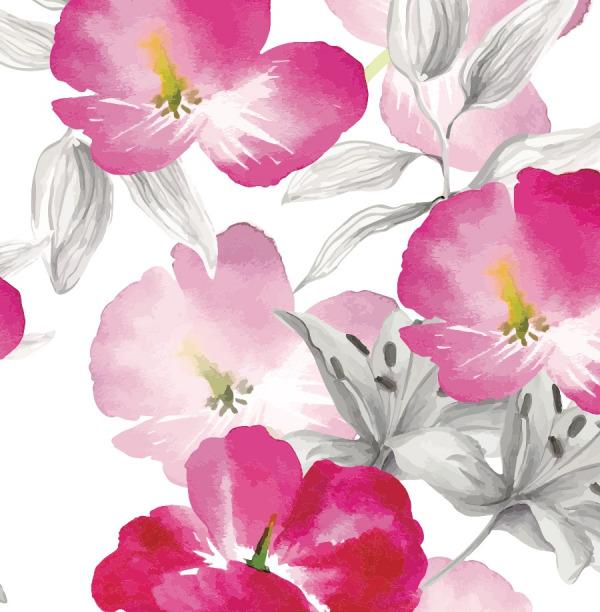 Large pink flowers wallpaper