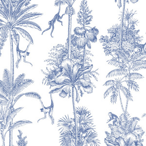 jungle monkey wallpaper in peel and stick